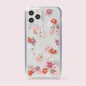 KATE SPADE 11 PRO Liquid Glitter Pink Floral Case